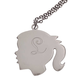 Personalized Silhouette Girl Necklace, One Size