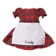 Personalized Big Sister Plaid Dress Personalized, One Size