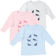 Floral Cat 3/4 Sleeve Crew Neck Shirt, One Size