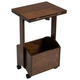 Rolling Folding Side Table by OakRidge Accents, One Size