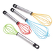 Silicone Whisks, Set of 4 by Home-Style Kitchen, One Size