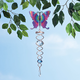 Butterfly Crystal Wind Spinner, One Size