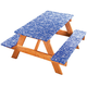 Fanciful Flowers Deluxe Picnic Table Cover, One Size