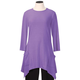 3/4 Sleeve Crew Neck Tunic with Pockets, One Size