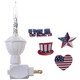 Patriotic Clips and Bubble Light, One Size