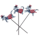 Metal Patriotic Cat Stakes, Set of 3 by Maple Lane Creations, One Size