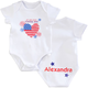 Personalized 4th of July Cutie Pie Onesie, One Size