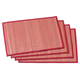 Striped Bamboo Placemats, Set of 4, One Size