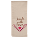 Embroidered Cotton Kitchen Towel, One Size
