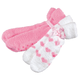 Fluffy Chenille Socks with Grippers, 2 Pairs, One Size