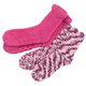 Popcorn & Chenille Luxury Socks, 2 pairs, One Size