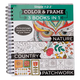Adult 3-in-1 Nature, Country, Patchwork Coloring Book, One Size
