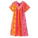 Split V-Neck Mid-Length Dress, One Size