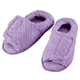 Quilted Chenille Adjustable Toe Slippers, One Size
