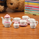 Personalized Floral Doll Tea Set Personalized, One Size