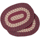 Burgundy Braided Placemats Set of 2, One Size