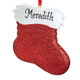 Personalized Glitter Stocking Ornament, One Size