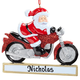 Personalized Crusin' Santa Ornament, One Size