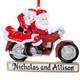 Personalized Crusin' Claus Couple Ornament, One Size
