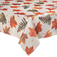 Metallic Leaves Fabric Tablecloth, One Size
