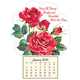 Mini Magnetic Calendar Roses in Bloom, One Size