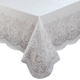 Floral Vinyl Lace Table Cover, 54 Inch