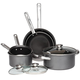 Gray Non-Stick Cookware, 8 Piece Set by Home-Style Kitchen, One Size