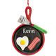 Personalized Bacon and Eggs Ornament, One Size