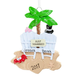 Personalized Just Married Tropical Ornament, One Size