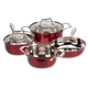 Red Metallic Stainless Steel Cookware by Home-Style Kitchen, One Size
