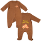 Personalized Baby Turkey Sleeper, One Size