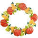 Pumpkin and Gourds Metal Wreath by Maple Lane Creations™, One Size