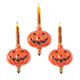 Pumpkin Bubble Light Replacement Bulbs Set of 3, One Size