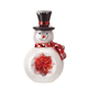 Glass Snowman Table Piece, One Size