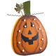Wooden Lighted Jack-O-Lantern, One Size