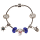 Winter Wonderful Stainless Steal Charm Bracelet, One Size