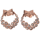 Diamond Look Holiday Wreath Earrings, One Size