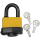 Weatherproof Lock with Three Keys, One Size