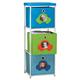 Children's 3 Bin Storage Cube Unit, One Size