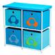 Children's 4 Bin Storage Cube Unit, One Size