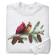 Winter Branch with Cardinals Sweatshirt, One Size