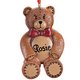 Personalized Teddy Bear Ornament Personalized, One Size