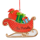 Personalized Christmas Sleigh Ornament, One Size