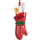 Personalized Christmas Oven Mitt Ornament Plain, One Size