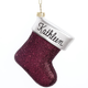 Personalized Birthstone Glitter Stocking Ornament Plain May, One Size