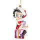 Betty Boop Glass Christmas Ornament, One Size