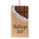 Personalized Gold Wrapped Chocolate Bar Ornament, One Size