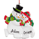 Personalized Snowman Family Ornament, One Size