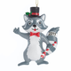 Personalized Woodland Raccoon Ornament, One Size