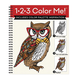 1-2-3 Color Me Owl Coloring Book, One Size